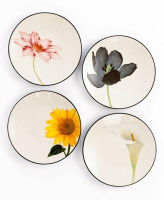 Colorwave Floral Set of 4 Appetizer Plates