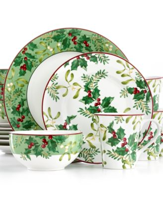 222 Fifth Christmas Foliage Collection - Dinnerware - Dining ...