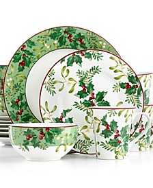 Christmas Foliage 16-Pc. Set, Service for 4