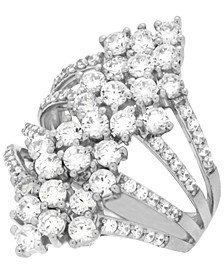 Diamond Multi-Row Statement Ring (2-1/2 ct. t.w.) in 14k White Gold, Created for Macy's