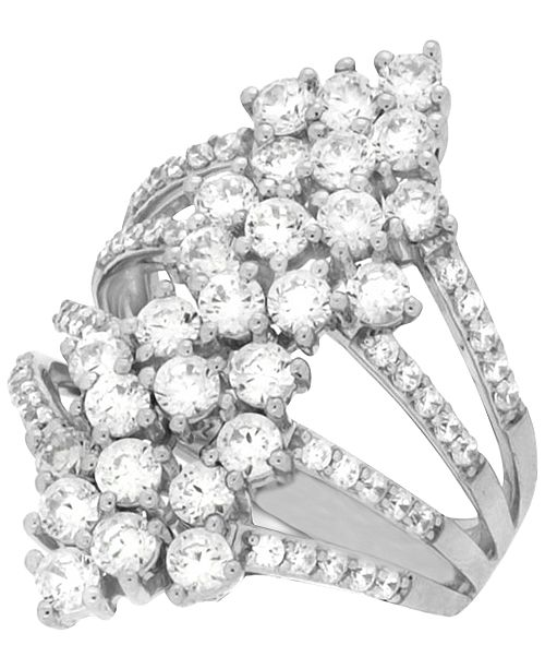Wrapped in Love Diamond Multi-Row Statement Ring (2-1/2 ct. t.w.) in 14k White Gold, Created for Macy's