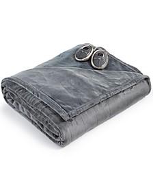 Slumber Rest Velvet Plush Electric Blankets by Sunbeam