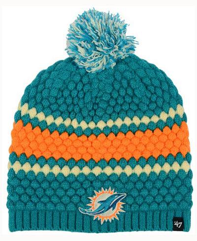 '47 Brand Women's Miami Dolphins Leslie Pom Knit