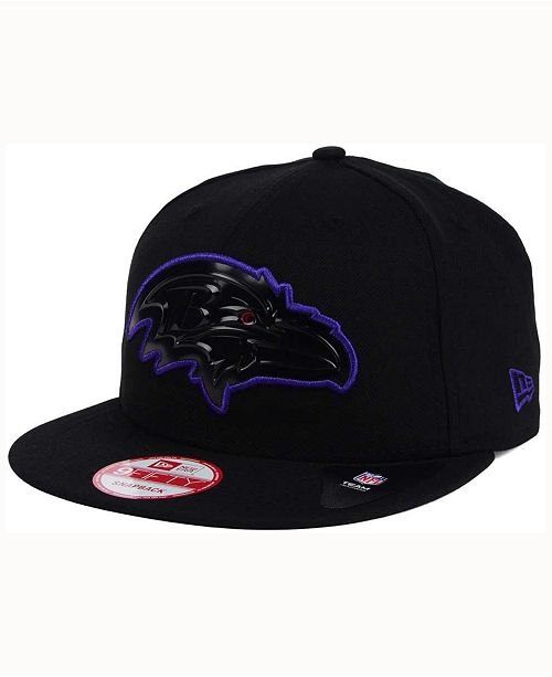 4d3881411 New Era Baltimore Ravens Black Bevel 9FIFTY Snapback Cap - Sports ...