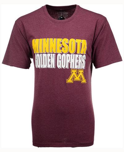 Colosseum Men's Minnesota Golden Gophers Wordmark Stack T-Shirt