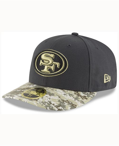 d8414136e67 ... New Era San Francisco 49ers Salute To Service Low Profile 59FIFTY  Fitted Cap ...