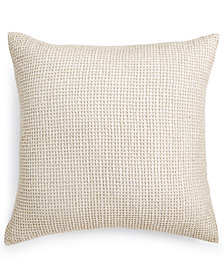 """Hotel Collection Linen 22"""" Square Decorative Pillow, Created for Macy's"""