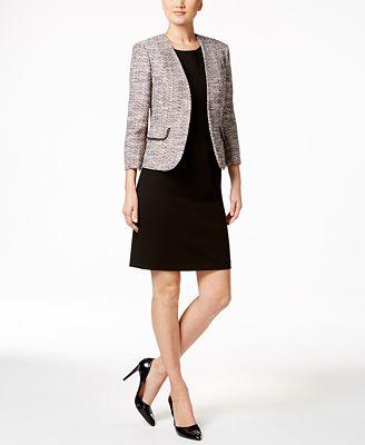 Kasper Tweed Jacket & Crepe Sheath Dress