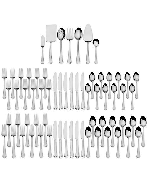International Silver 67-Pc. Carleigh Flatware & Hostess Set Service for 12, Created for Macy's