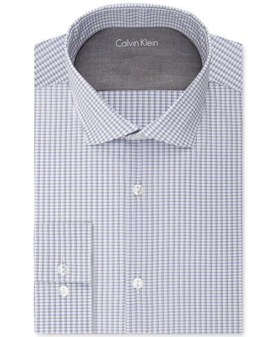 Calvin klein x men 39 s extra slim fit check dress shirt for Calvin klein x fit dress shirt