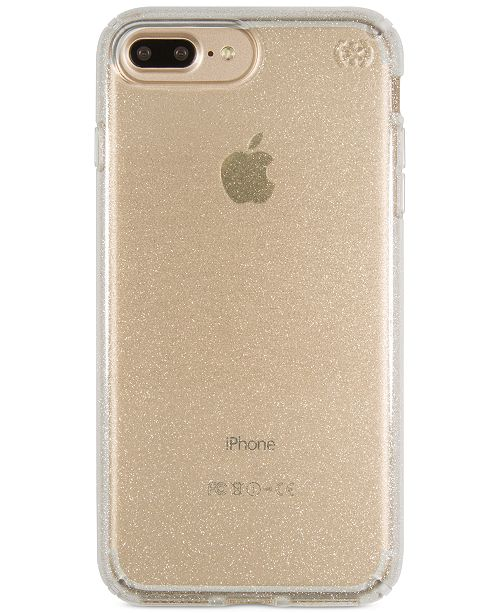 on sale b6d8d cc417 Presidio Clear Glitter iPhone 7 Plus Case