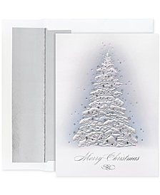 Master Piece Frosted Trees Set of 16 Boxed Greeting Cards and Envelopes