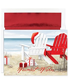 Beach Chairs Set of 18 Boxed Greeting Cards with Envelopes