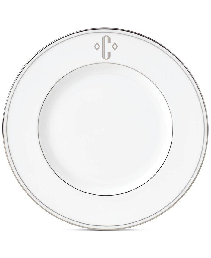 Lenox - Federal Platinum Monogram Block Accent Plate