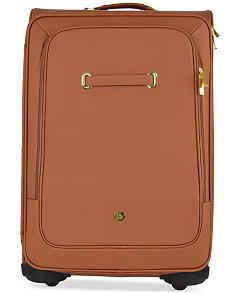 Joy Mangano Christie Leather Luggage with Spinball™ Wheels ...