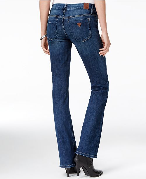 GUESS Tailored Mini Bootcut Jeans - Jeans - Women - Macy s d9a4696769