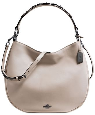 COACH Willow Floral Nomad Hobo in Glovetanned Leather - Handbags ...