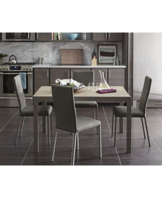 Expandable Furniture macchiato expandable dining table with self storing leaf, created