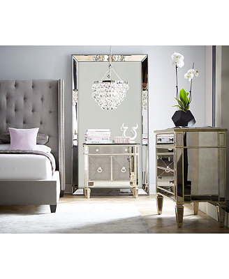mirrored bedroom set marais mirrored furniture collection furniture macy s 12423