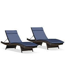 Aldin Outdoor Wicker Adjustable Chaise Lounge, Quick Ship