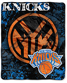 Northwest Company New York Knicks 50x60in Plush Throw Drop Down