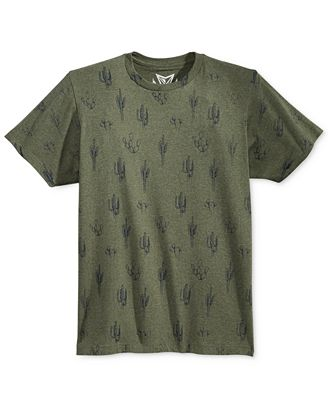 Univibe Men's Dusty Trails Catus Graphic-Print T-Shirt