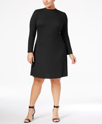 Love Squared Trendy Plus Size Mock-Neck Sweater Dress