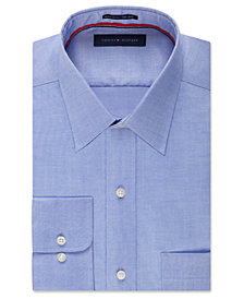 Tommy Hilfiger Men's Big & Tall Classic-Fit Non-Iron Solid Dress Shirt