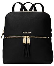 Rhea Slim Pebble Leather Backpack
