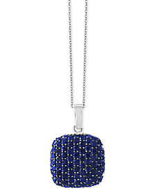 EFFY® Balissima Sapphire Pavé Pendant Necklace (3-3/8 ct. t.w.) in Sterling Silver
