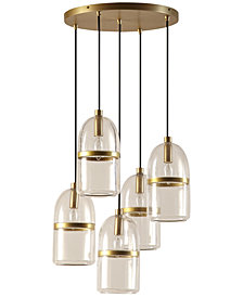 CLOSEOUT! INK+IVY Copula Five-Light Antique Bronze Pendant
