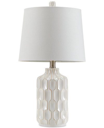 Inkivy contour ivory ceramic glass table lamp lighting lamps inkivy contour ivory ceramic glass table lamp aloadofball Images