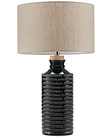INK+IVY Dash Blue Ceramic Table Lamp