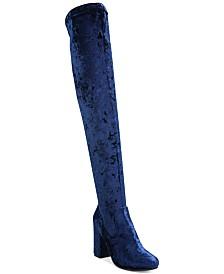 Carlos by Carlos Santana Rumor Velvet Block-Heel Over-The-Knee Boots