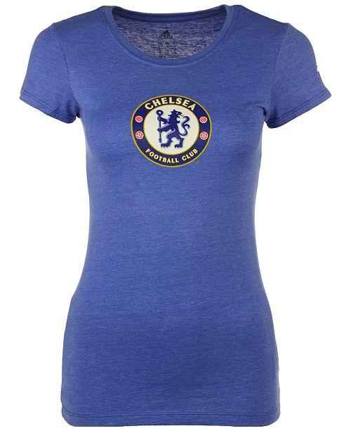 adidas Women s Chelsea International Soccer Club Team Crest T-Shirt ... e4c881e25