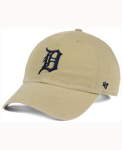 '47 Brand Detroit Tigers Khaki Clean UP Cap