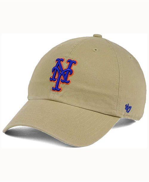 818264c221f 47 Brand New York Mets Khaki Clean UP Cap   Reviews - Sports Fan ...