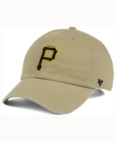 '47 Brand Pittsburgh Pirates Khaki Clean UP Cap
