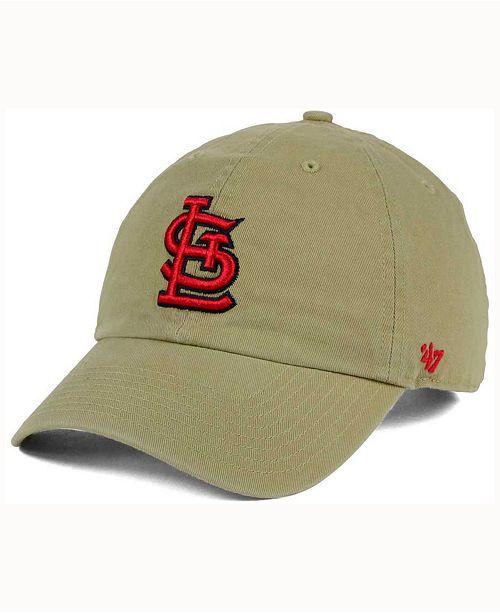 '47 Brand St. Louis Cardinals Khaki Clean UP Cap