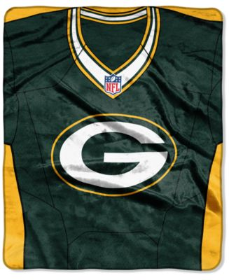 Green Bay Packers Jersey Plush Raschel Throw