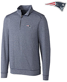 Cutter & Buck Men's New England Patriots Shoreline Quarter-Zip Pullover