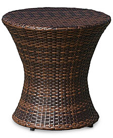 Gerren Wicker Outdoor Accent Table, Quick Ship