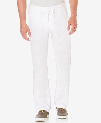 Perry Ellis Men S Linen Drawstring Pants Pants Men