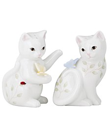 Butterfly Meadow Kitten Salt and Pepper Shakers