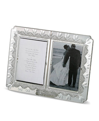 Waterford Gifts Wedding Announcement Double Frame 4 Quot X 6