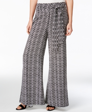 1930s Women's Pants and Beach Pajamas Bar Iii Printed Wide-Leg Pants Only at Macys $26.99 AT vintagedancer.com