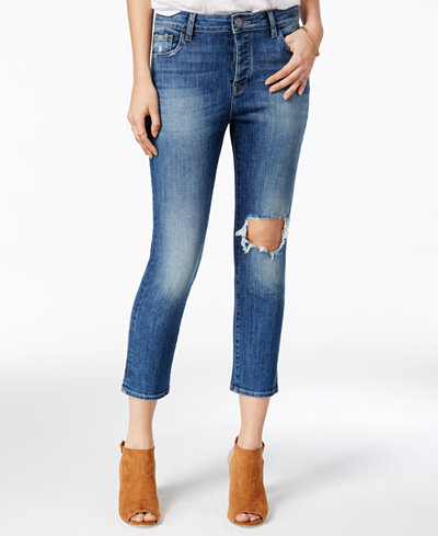 DL 1961 Ripped Goldie Straight-Leg Jeans