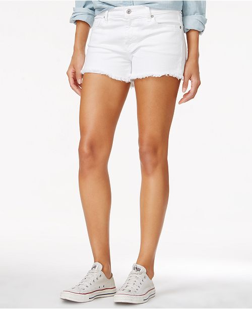76fcfc9a4fc4 7 For All Mankind White Wash Cut-Off Shorts - Shorts - Women - Macy's