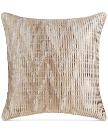 CLOSEOUT! Hotel Collection Distressed Chevron European Sham, Created for Macy's