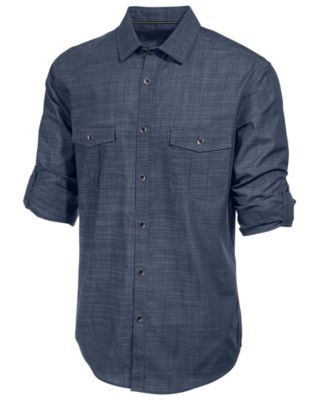 Image of Alfani Men's Long Sleeve Warren Shirt, Only at Macy's